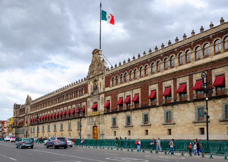 The National Palace in the historical center of Mexico City
