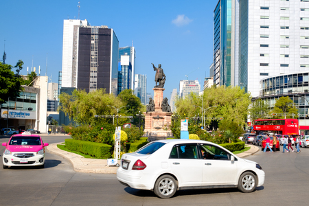 The Christopher Columbus monument at Paseo de la Reforma in Mexico City