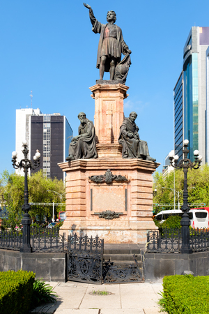 Monument to Christopher Columbus at Paseo de La Reforma in Mexico City - Inaugurated in 1877 (In the public domain)