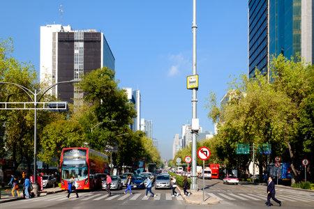 Paseo de la Reforma in Mexico City on a beautiful summer day