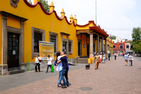 The colonial Town Hall at Coyoacan in Mexico City, known as the house of Hernan Cortes