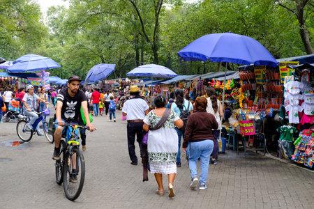 Street market at Chapultepec Park in Mexico City