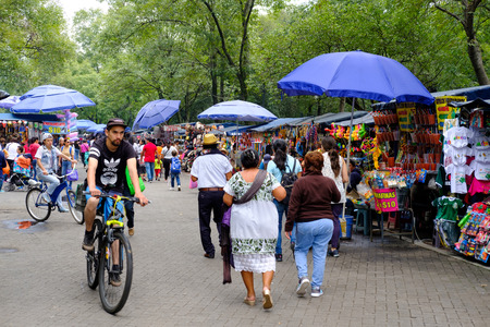 Street market at Chapultepec Park in Mexico City