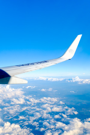 MEXICO CITY,MEXICO - JULY 18,2018 : Aeromexico plane in flight Редакционное