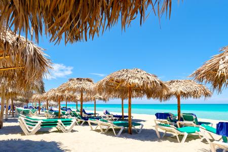 The beautiful beach of Varadero in Cuba on a sunny summer day Фото со стока
