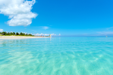 The beautiful beach of Varadero in Cuba on a sunny summer day Stock Photo