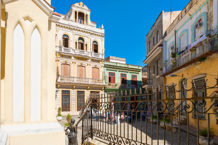The beautiful Square of the Angel in colonial Old Havana Фото со стока