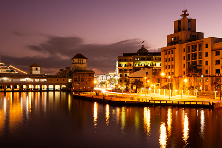 Old Havana at night with a view of the bay