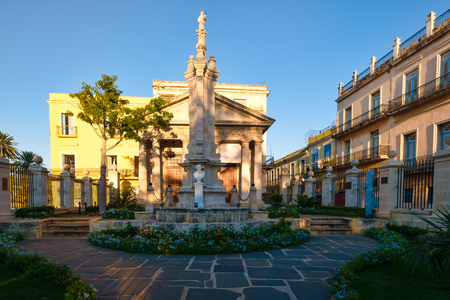 El Templete in Old Havana, an old colonial monument marking the site of the foundation of the city