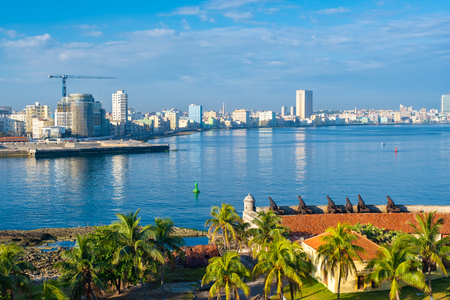 The Havana skyline on a sunny summer day
