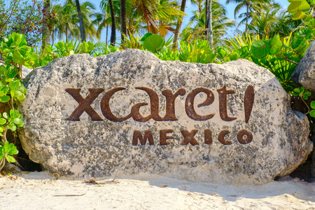 XCaret, a famous ecotourism park on the mexican Mayan Riviera