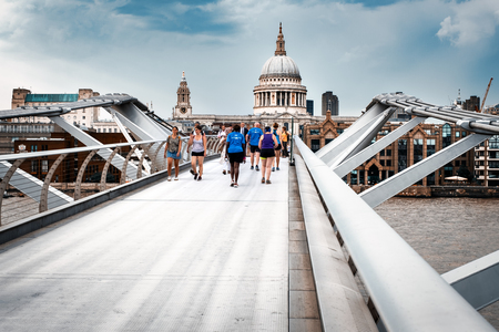 The Millennium Bridge and Saint Paul Cahedral in London
