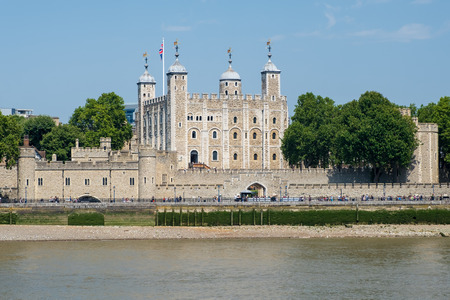 The Tower of London on a beautiful summer day
