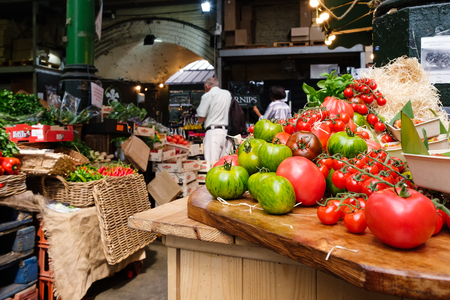 Fresh vegetables for sale at the famous Borough Market in London