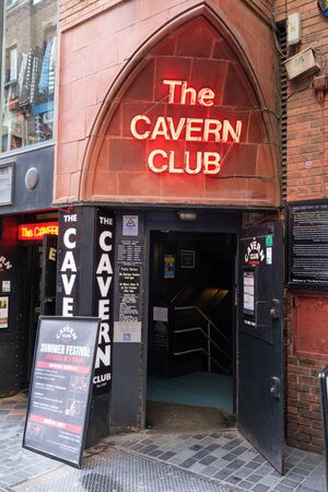 LIVERPOOL,UK - AUGUST 5,2019 : The Cavern Club, the legendary venue where The Beatles popularity started Standard-Bild