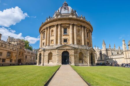 The Radcliffe Camera, a symbol of the University of Oxford Stock Photo