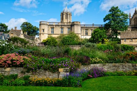 The Christ Church College and gardens at the University of Oxford