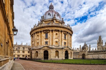 Classic view of the Univeristy of Oxford in Britain, one of the top higher education institutions in the world Stock Photo