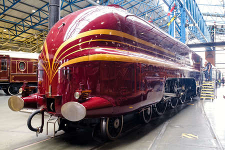 YORK,UK - AUGUST 12,2019 : The Duchess of Hamilton at the National Railway Museum in York Editorial