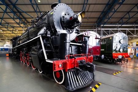 YORK,UK - AUGUST 12,2019 : Class KF steam locomotive at the National Railway Museum in York
