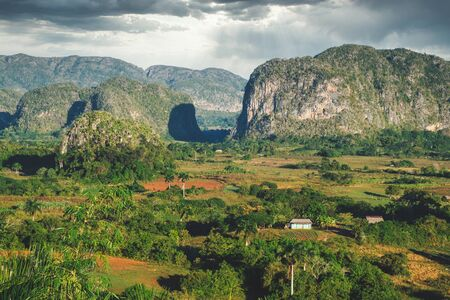 The Viñales Valley in Cuba, home of the best tobacco in the world