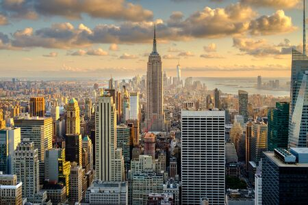 Aerial view of New York City at sunset Reklamní fotografie