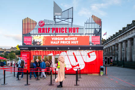 Booth selling tickets for The Fringe, the largest art festival in the world