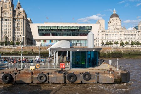 The Mersey Ferries terminal in Liverpool Pier Head Stock Photo