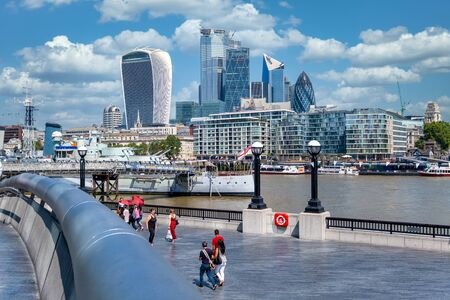View of the City of London on a beautiful summer day