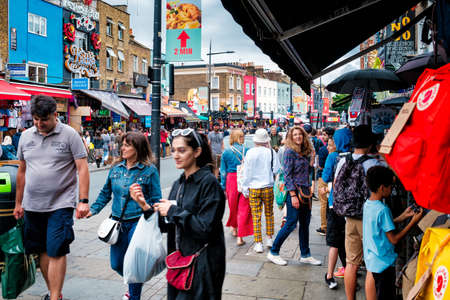 The Camden Town street market in London