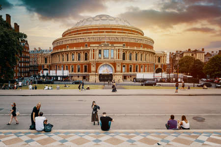 The Royal Albert Hall at sunset in London