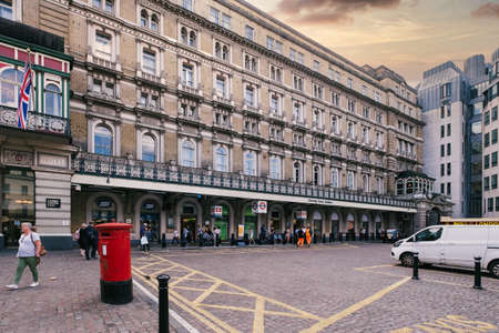 LONDON,UK - JULY 29,2019 :  The Charing Cross railway station in central London Редакционное