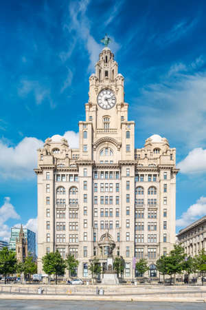 The Royal Liver Building, a symbol of the city of Liverpool