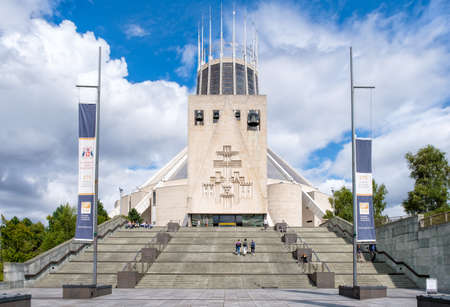 The Liverpool Metropolitan Cathedral, the largest catholic Cathedral in England