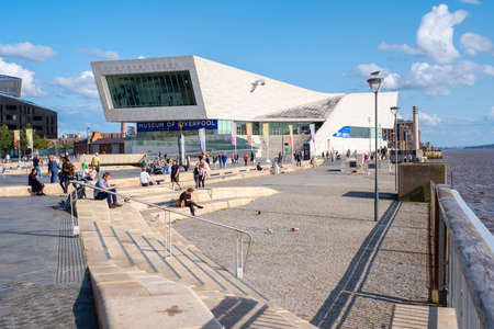 The Museum of Liverpool at the Pier Head next to the Mersey River