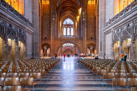 Interior view of the Liverpool Anglican Cathedral