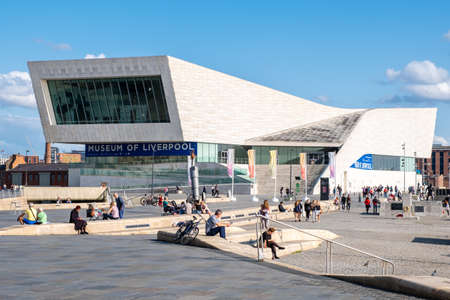 The Museum of Liverpool at the Pier Head next to the Mersey River Publikacyjne