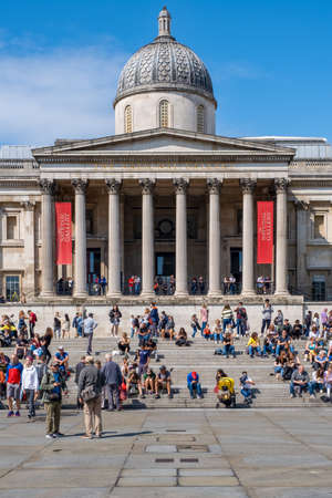 The National Gallery, one of the most famous museums in London