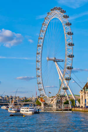 The Southbank and The London Eye on a beautiful summer day