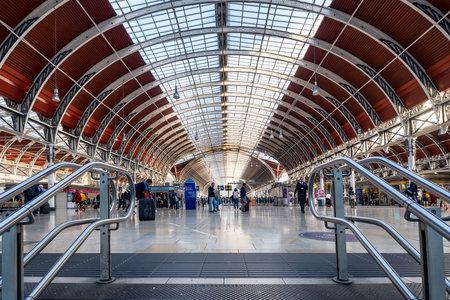 Paddington train station in London Editorial