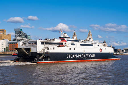 The Isle of Man Steam Packet ferry on the Port of Liverpool