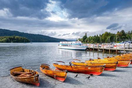 Lake Windermere on the beautiful Lake District in England Standard-Bild