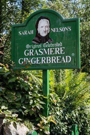 Sign at the famous Grasmere Gingerbread Shop on the Lake District in England