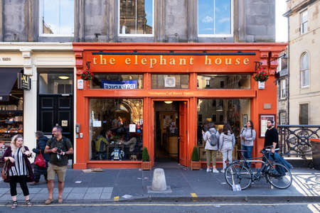 The Elephant House coffee house at Edinburgh, famous for being one of the places where JK Rowling wrote the Harry Potter books
