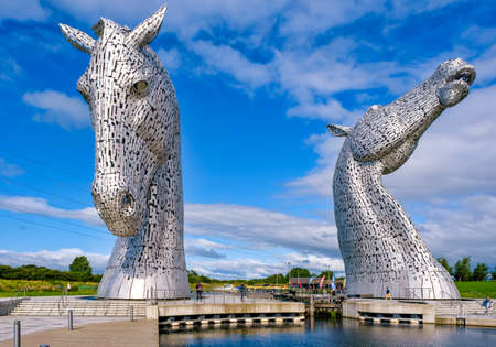 The Kelpies in Scotland, the largest equine sculptures in the world Editorial