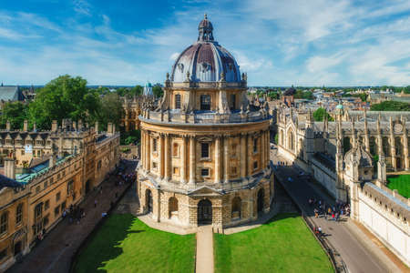 Famous view of the city of Oxford and the Radcliffe Camera, a symbol of the University of Oxford Editorial