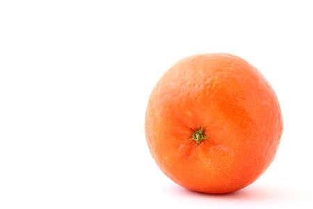 fresh mandarin on white photo