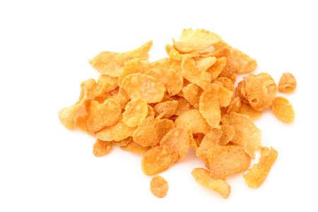 abstinence: corn flakes palo su bianco  Archivio Fotografico