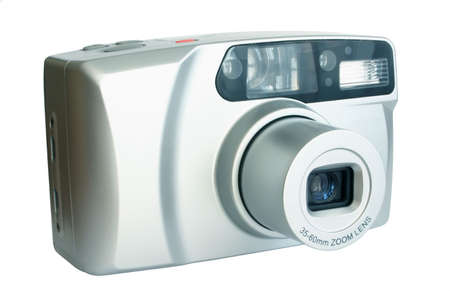 megapixel: compact camera - pure white background Stock Photo