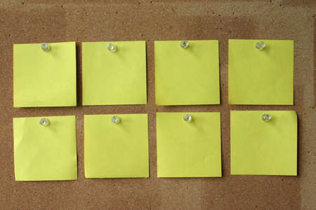 memorize: blank post-its